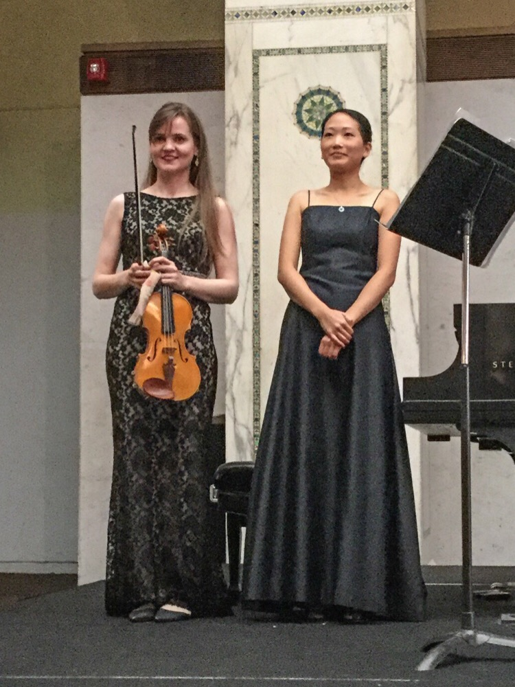 Kate Carter, Violin and Louise Chan, Piano